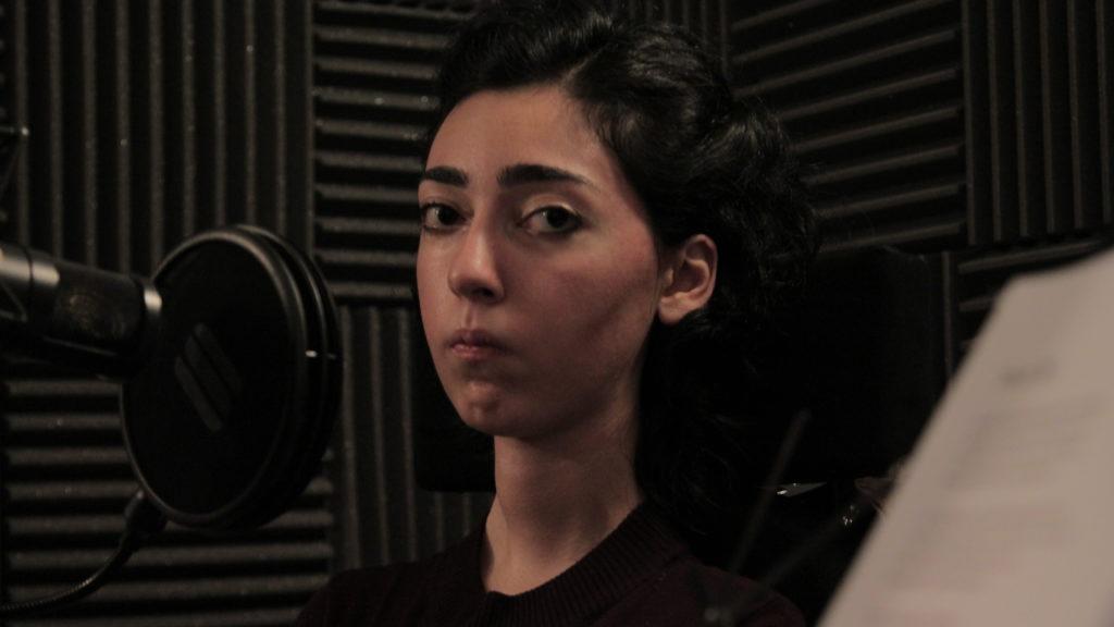 Kiana Kalantar-Hormozi recording voice-over