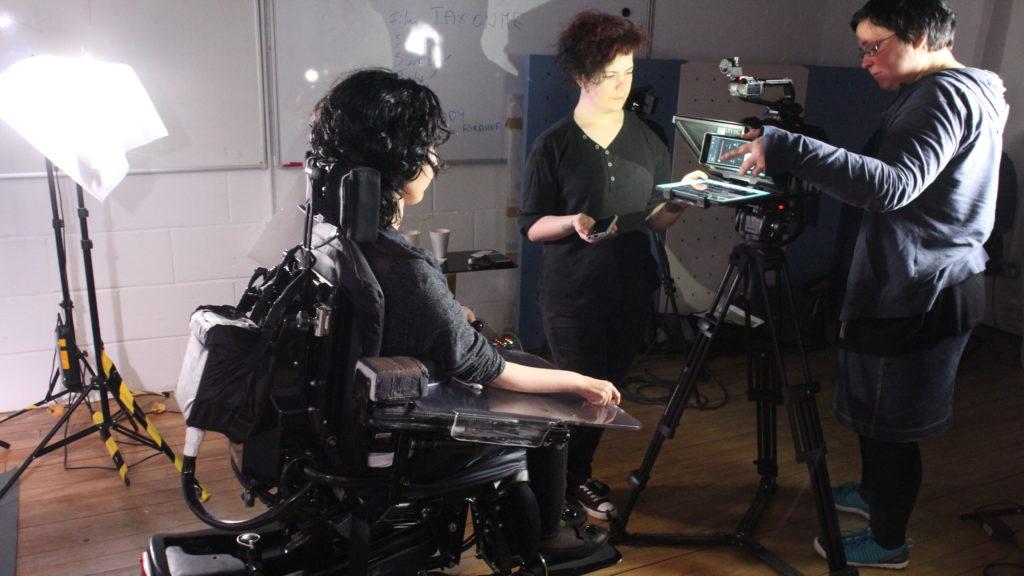 Kiana Kalantar-Hormozi during filming